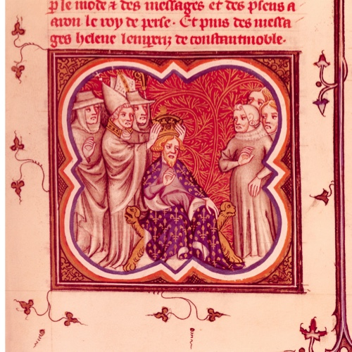 Charlemagne, as depicted in a 14th-century manuscript.
