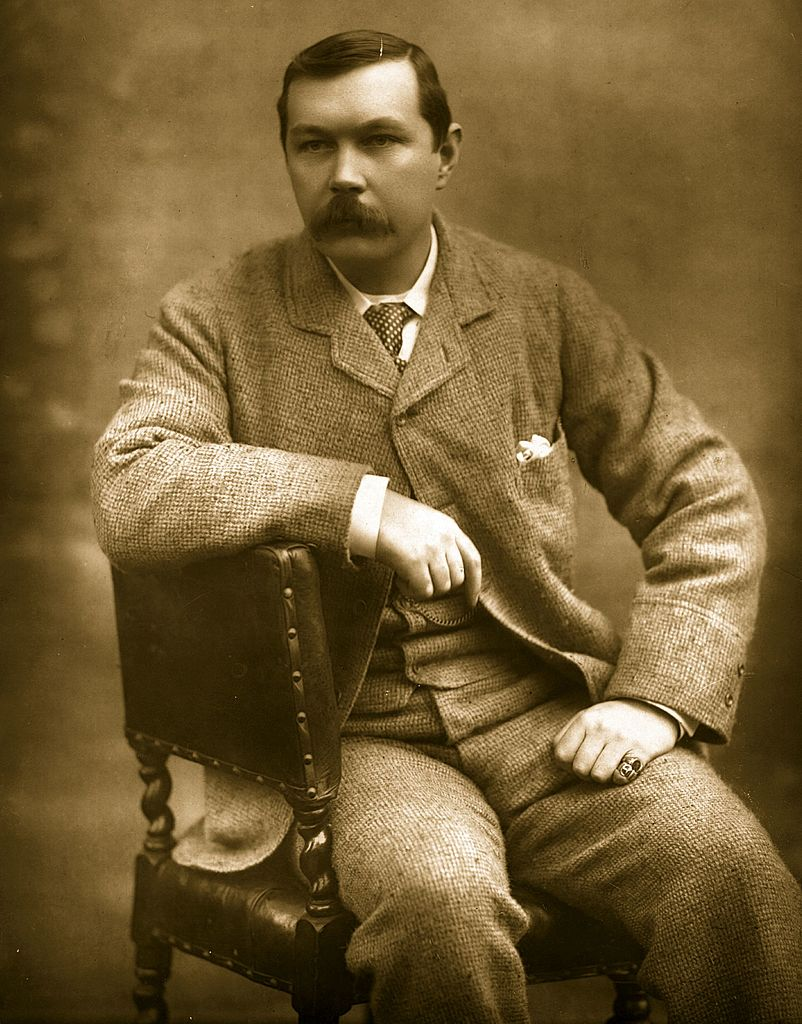 Scottish novelist Sir Arthur Conan Doyle.    (Photo by Herbert Barraud/Getty Images)