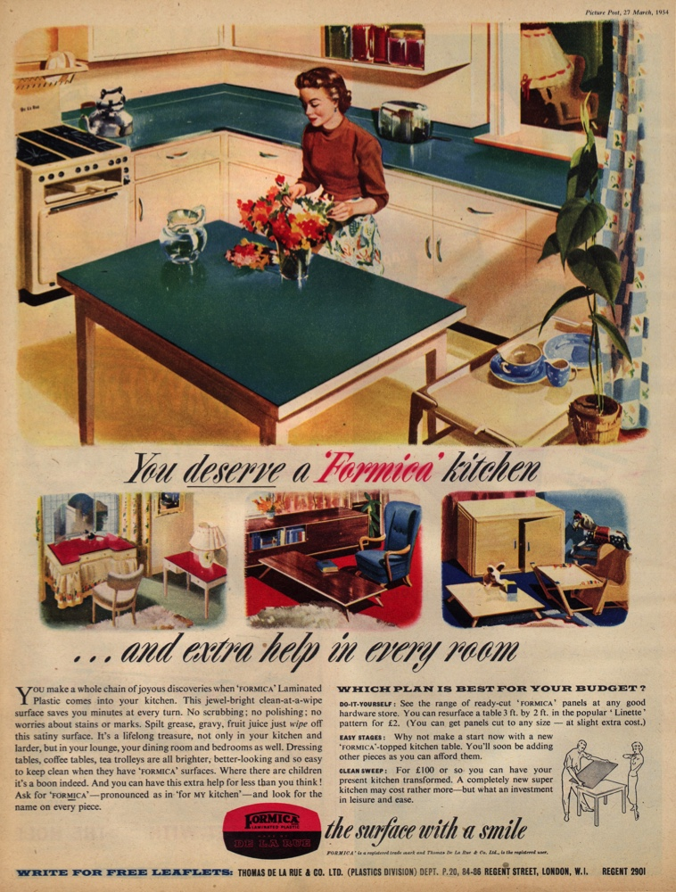 A 1950s advertisement for a Formica kitchen. (Picture Post/Getty Images)