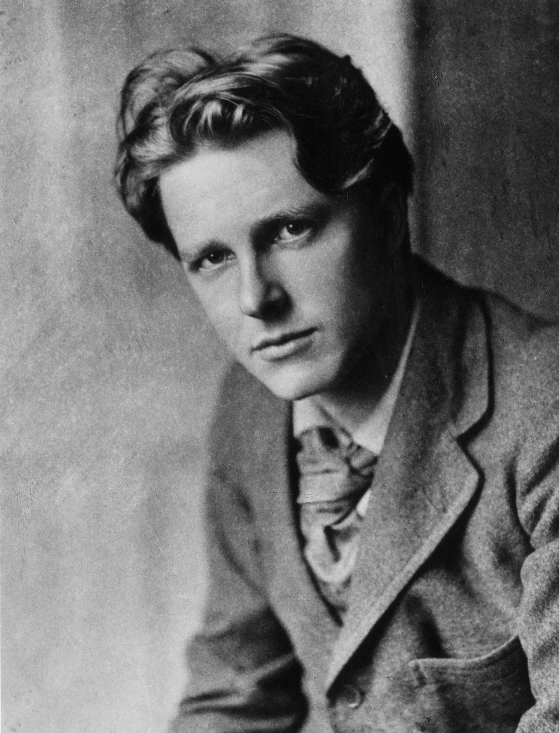 Rupert Brooke, pictured in around 1913.
