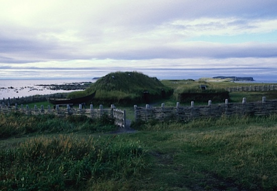 CANADA - 1989/07/19: Canada, Newfoundland, L'anse Aux Meadows Nhp, Replicas Of Norse Sod Houses From 1000 Years Ago, Fence. (Photo by Wolfgang Kaehler/LightRocket via Getty Images)