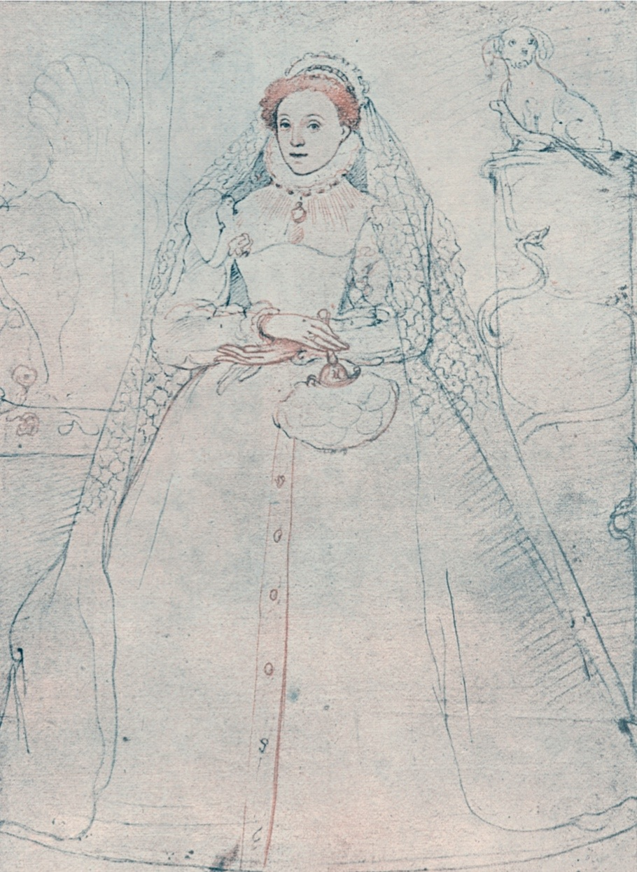 Elizabeth I, Queen of England and Ireland, 1575. Crayon drawing of Elizabeth (1533-1603) attributed to Fredrigo Zuccaro. (Photo by Ann Ronan Pictures/Print Collector/Getty Images)