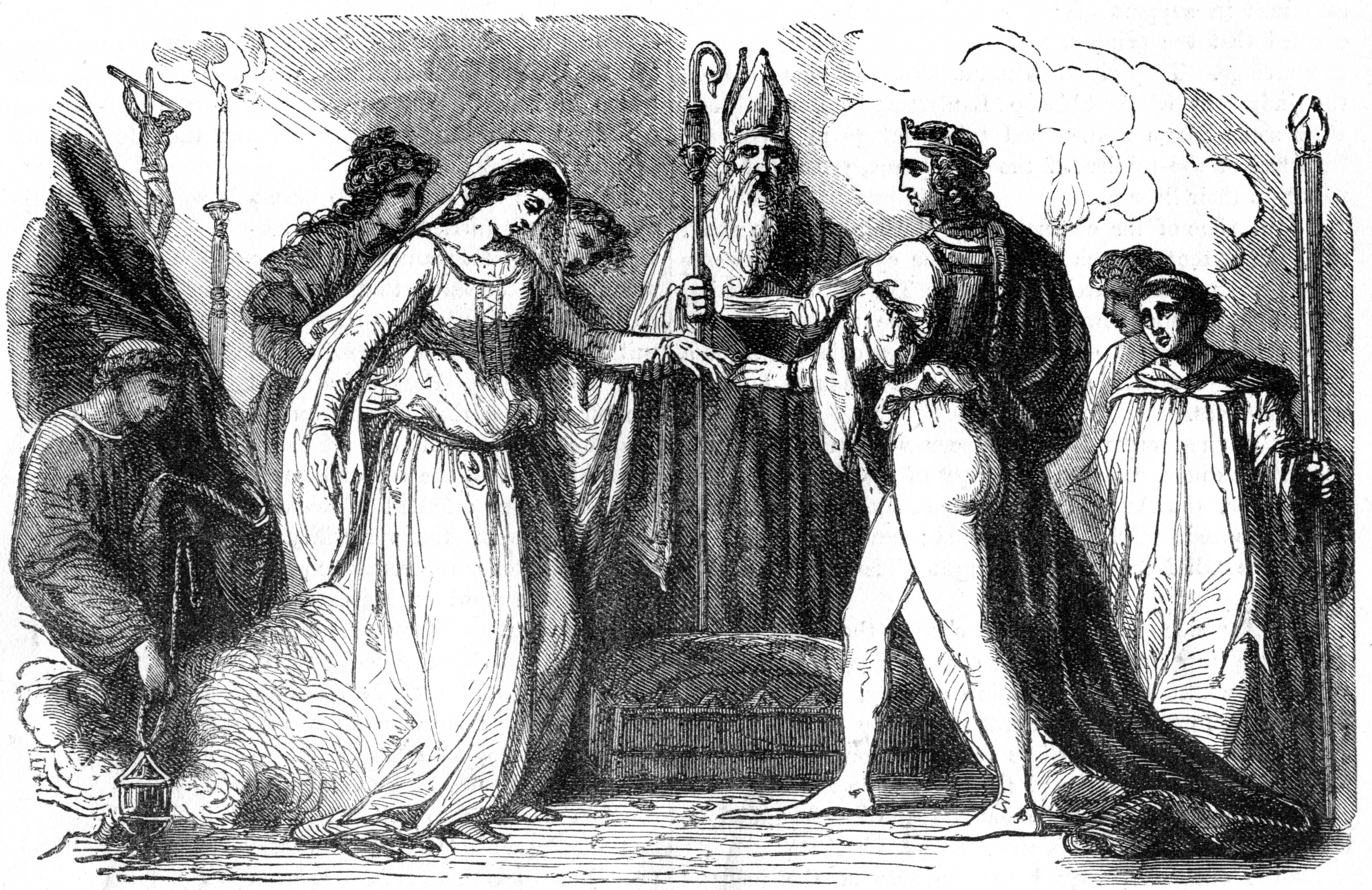 A depiction of the marriage of Henry I and Matilda of Scotland