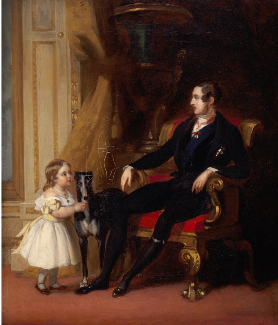 Albert Prince Consort with Princess Victoria and Eos, c1843. From Osborne House, Isle of Wight. Osborne House on the Isle of Wight was built for Queen Victoria and Prince Albert and completed in 1851. (Photo by English Heritage/Heritage Images/Getty Images)