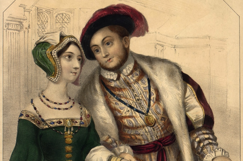 An illustration of Henry VIII and his second wife, Anne Boleyn. (Photo by Hulton Archive/Getty Images)