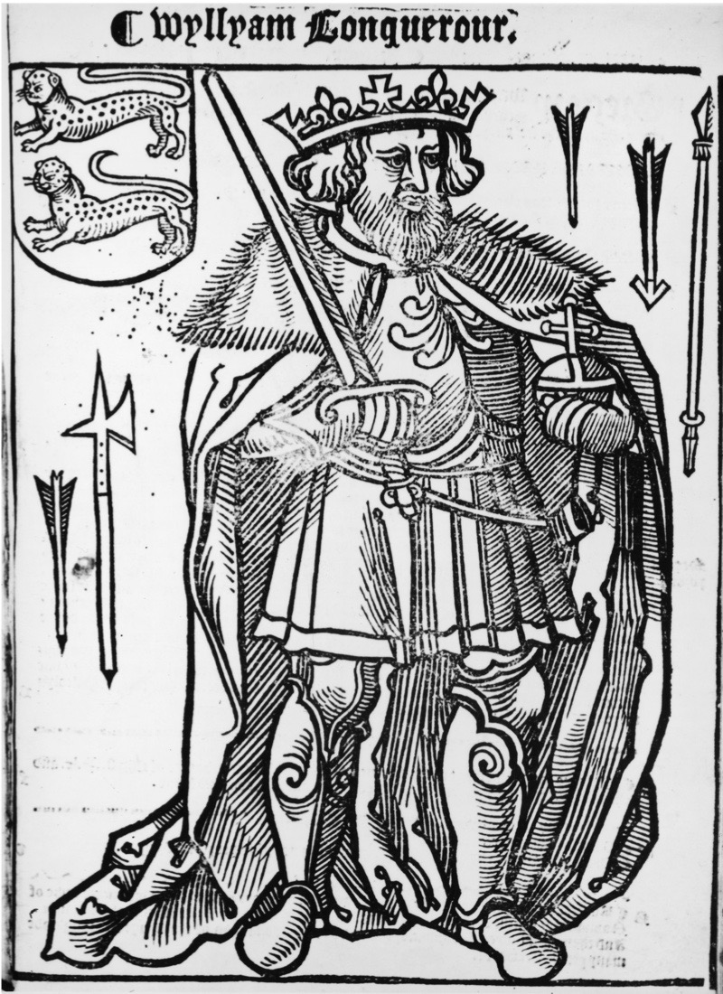 Illustration of William I the Conqueror (1027 - 1087), King of England from 1066.