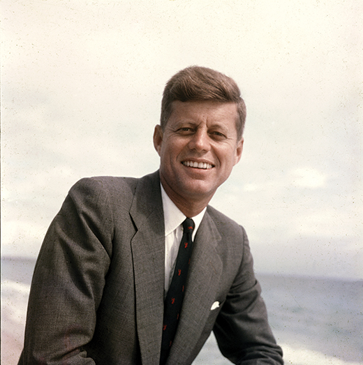 John F Kennedy pictured in 1957