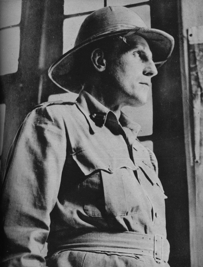 'Wingate, Captain of the Chindits', 1943-44. Major General Orde Charles Wingate (1903-1944), British Army officer known for creating special military units in Palestine in the 1930s, and in Abyssinia, Sudan and Burma during World War II. From The War Illustrated Volume 7 edited by Sir John Hammerton. [The Amalgamated Press Ltd, London, 1943-44]   (Photo by The Print Collector/Getty Images)