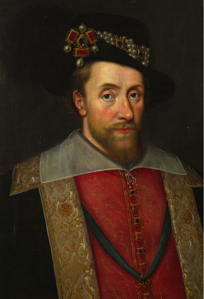 König James I. von England und Schottland (1566-1625).King James I of England and Scotland (1566-1625).