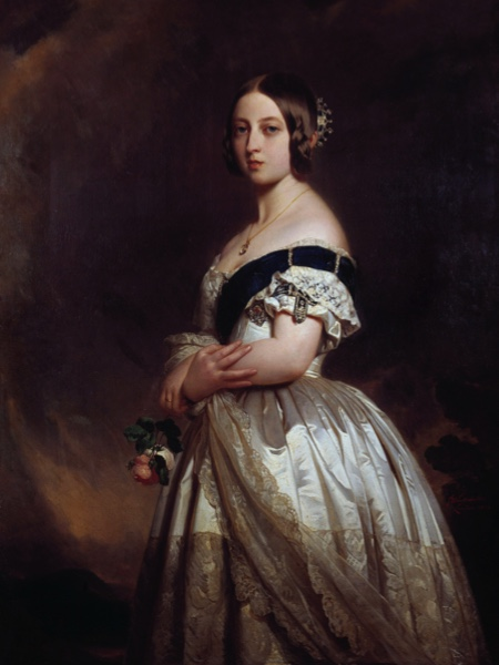A portrait of the young Queen Victoria