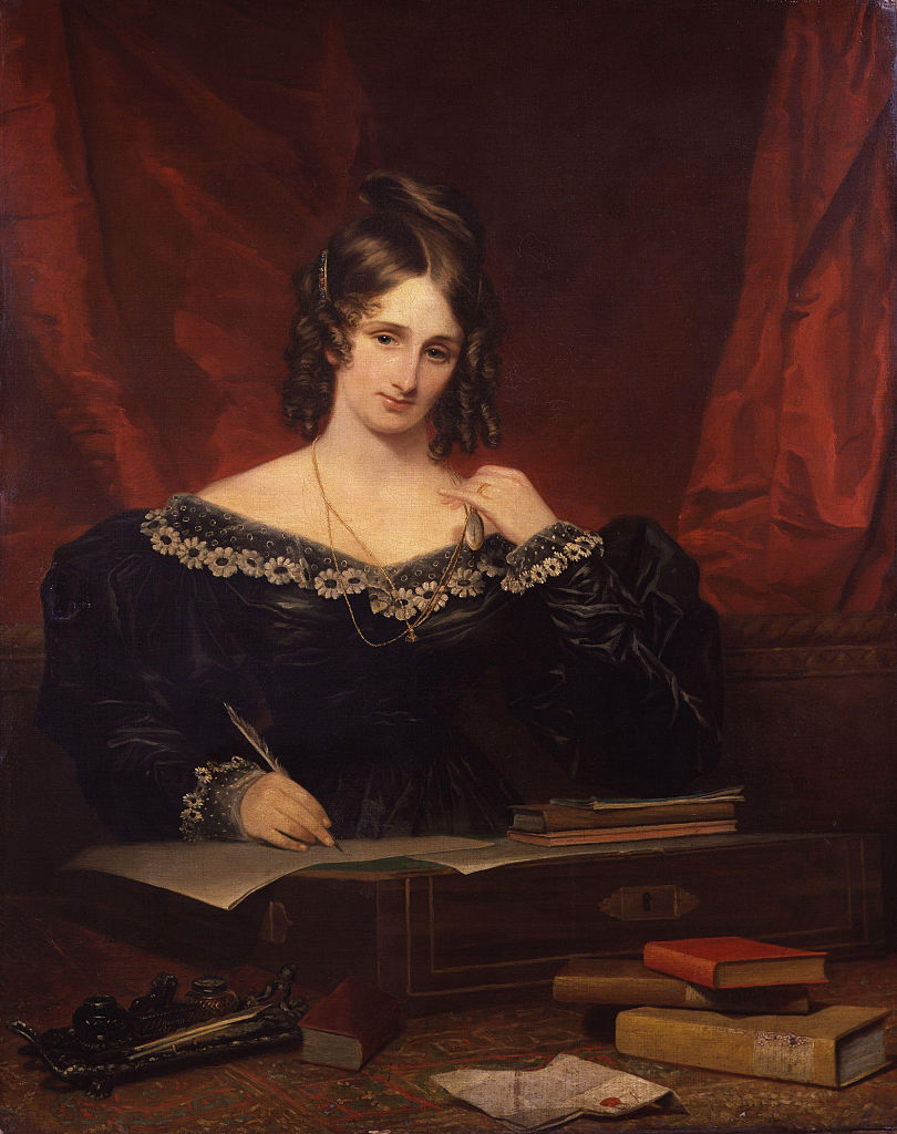 Mary Shelley, 1831. Artist :  Stump, Samuel John (1778-1863). (Photo by Fine Art Images/Heritage Images/Getty Images)