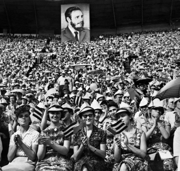 People attend a rally to honour Fidel Castro