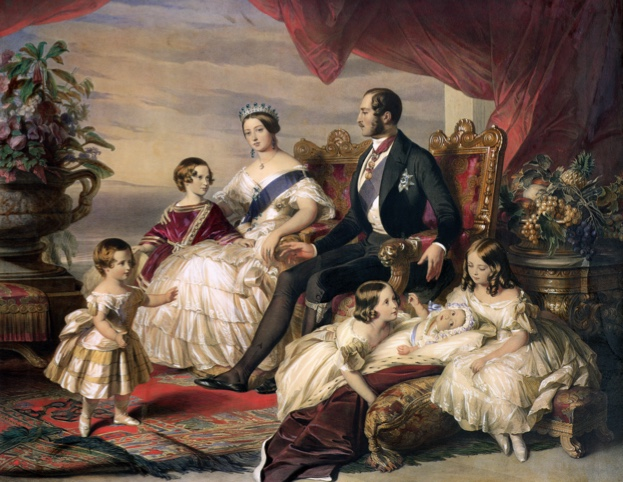 'Queen Victoria and Prince Albert with Five of their Children', 1846. Family portrait of Queen Victoria (1819-1901) and Prince Albert (1819-1861) and offspring.
