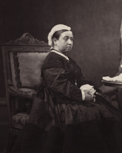 Photograph of Victoria in mourning dress