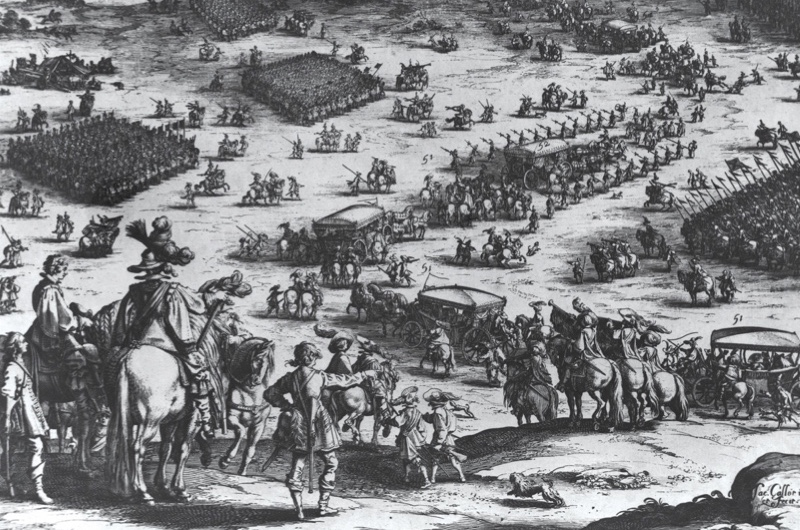 A 1628 engraving of the Spanish siege of the Dutch city of Breda
