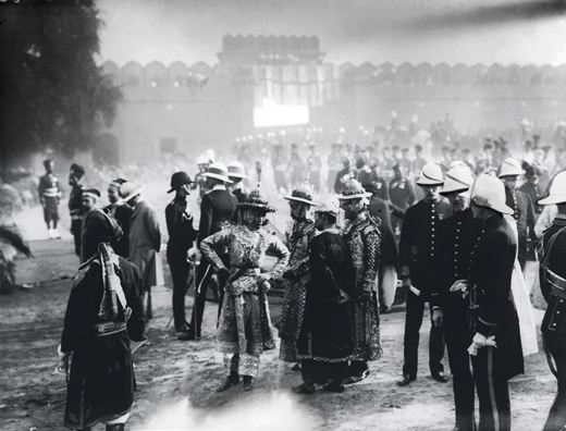 The Delhi Durbar held at Coronation Park, Delhi, to celebrate the coronation of King George V of England, December 1911. Burmese and Indian chiefs assemble to receive the monarch. (Photo by Hulton Archive/Getty Images)