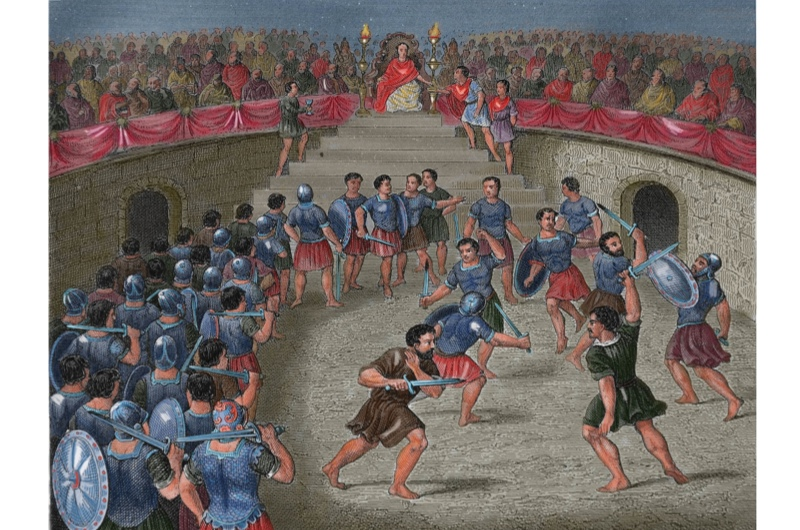 Despite popular misconception, Gladiatorial fighting was not the most popular entertainment in Ancient Rome. (Alamy)