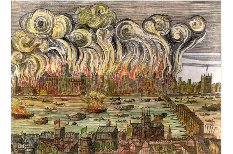 Great Fire of London 1666 |Impressionist Fire London