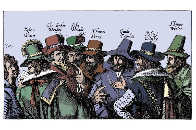 Gunpowder plotters. (Getty Images)