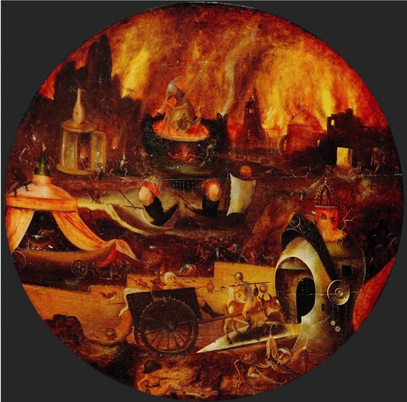 The Hell, ca 1545. Found in the collection of Staatliche Museen, Berlin. Artist :  Patinier (Herri met de Bles), Henri, de (1510-1550). (Photo by Fine Art Images/Heritage Images/Getty Images)