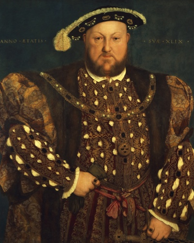 Henry VIII wearing the outfit worn for his marriage to Anne of Cleves.