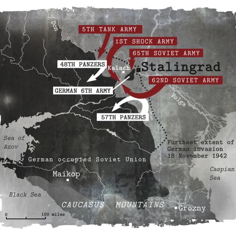 Stalingrad map illustration