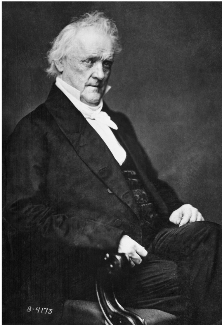 James Buchanan, the 15th president of the United States.