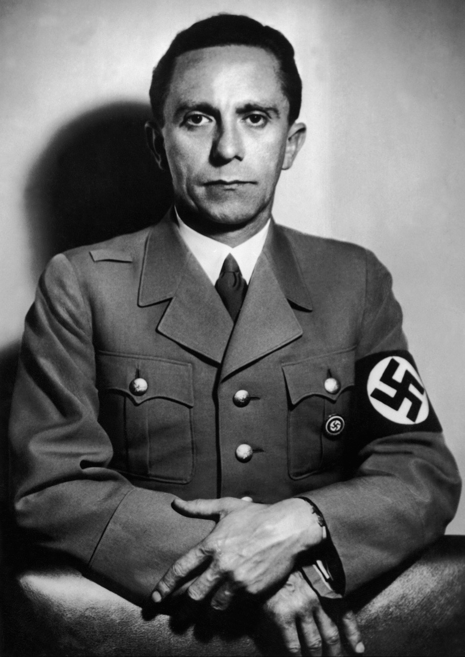 UNSPECIFIED - NOVEMBER 26:  Portrait On October 26 1941 Of Joseph Goebbels (1897-1945), At The Time Of The 15Th Anniversary Of His Nomination By Hitler, To The Post Of Police Chief To The Direction Of Gau (Area) Of Berlin, At The End Of August 1926.  (Photo by Keystone-France/Gamma-Keystone via Getty Images)