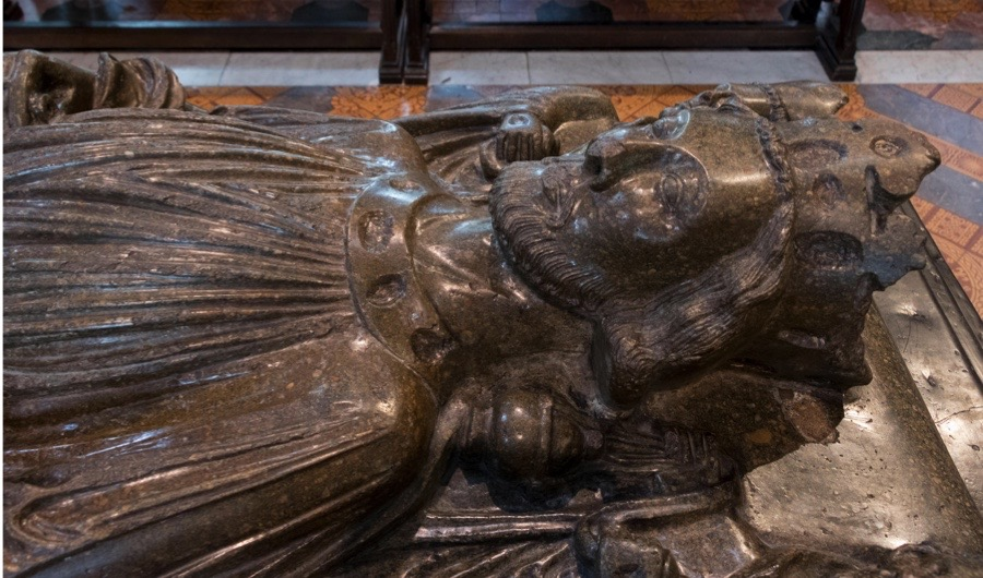 F4J5D5 Effigy of King John, Worcester Cathedral, Worcester, England, United Kingdom, Europe