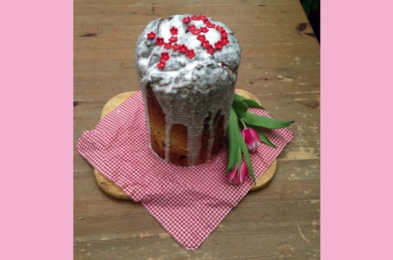 The Russian sweetbread kulich