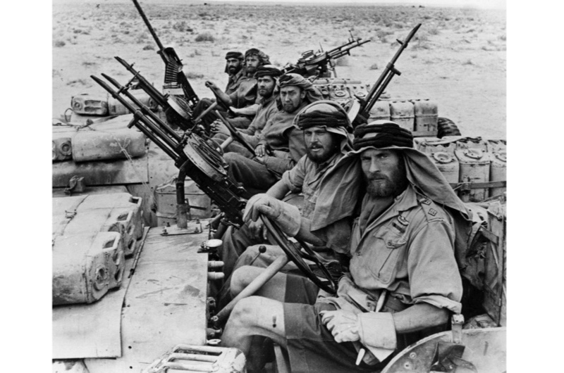Men of the Long Range Desert Group returning from a three-month trip behind enemy lines during war in North Africa. (Photo by Hulton Archive/Getty Images)