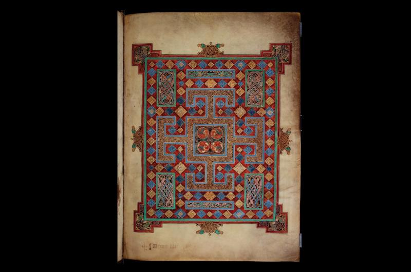 A page from Lindisfarne Gospels.