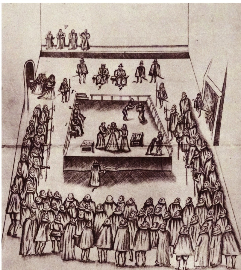 The execution of Mary Queen of Scots at Fotheringay Castle, 1587. From The Island Race, a 20th century book that covers the history of the British Isles from the pre-Roman times to the Victorian era. Written by Sir Winston Churchill and abridged by Timothy Baker. (Photo by: Universal History Archive/UIG via Getty Images)