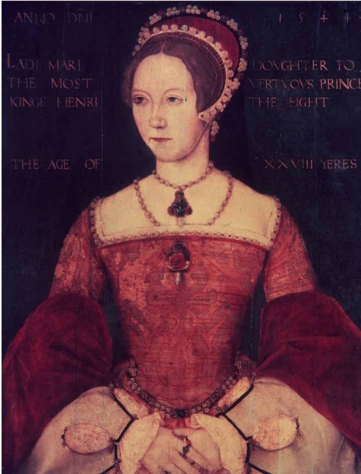 1544, Mary Tudor (1516 - 1558), the daughter of Henry VIII and Catherine of Aragon, at the age of 28. Following the death of her half-brother Edward VI and the brief rule of Lady Jane Grey, she ascended to the English throne as Queen Mary I in 1553. (Photo by Hulton Archive/Getty Images)
