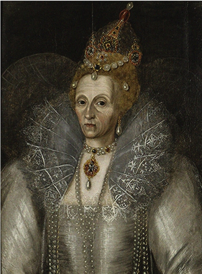 Portrait of Elizabeth I of England c1593. Found in the collection of Elizabethan Gardens, Manteo. Artist anonymous. (Photo by Fine Art Images/Heritage Images/Getty Images)