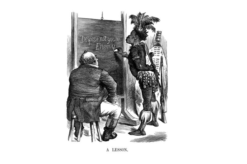 Punch cartoon depicting the The Anglo-Zulu War
