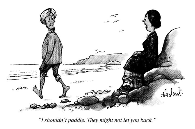 Punch cartoon depicting postwar immigration to Britain