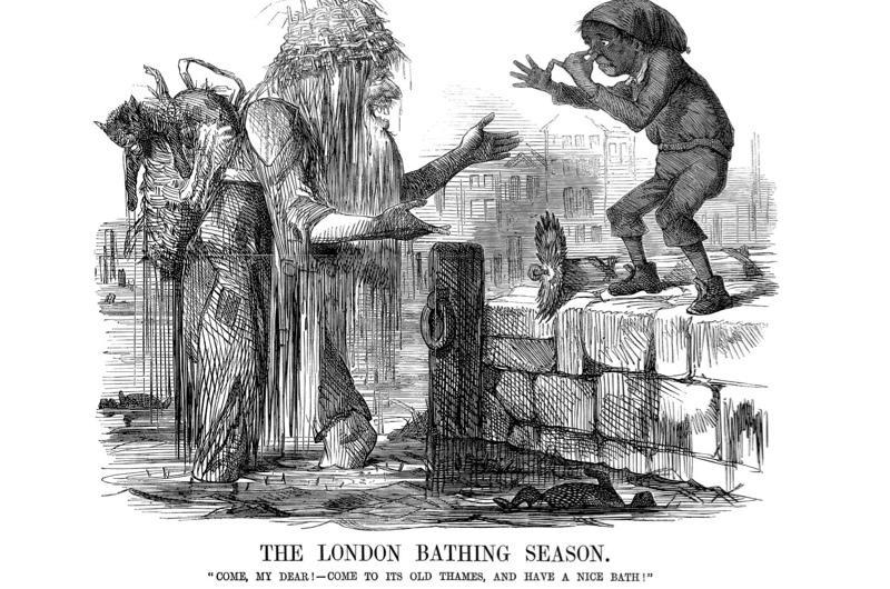 Punch cartoon illustrating the London bathing season