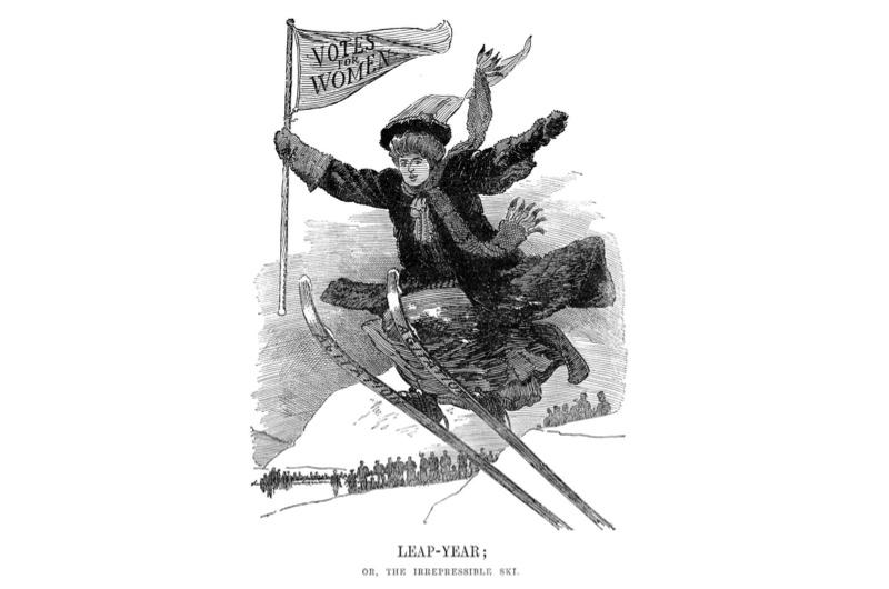 Punch cartoon depicting suffragette campaign
