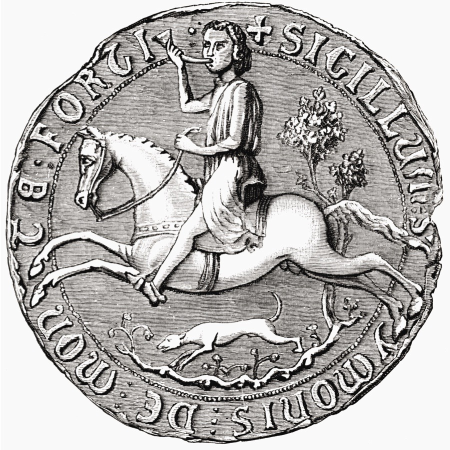 Seal Of French-English Nobleman Simon De Montfort, 6Th Earl Of Leicester, 1208 To 1265. From The Book Short History Of The English People By J.R. Green, Published London 1893 (Photo by: Universal History Archive/UIG via Getty Images)