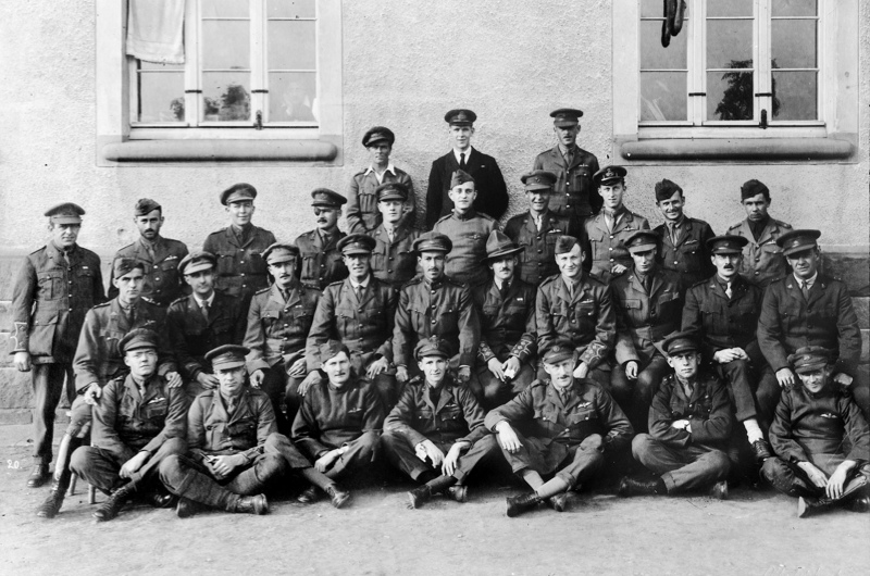 Group photo of Offiers at Holzminden POW camp Image provided by Channel 5