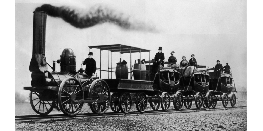 Competing Companies - Transcontinental Railroad |Steam Engine Train From 1800s