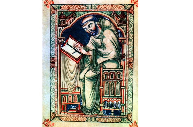 Edwin the Scribe. (Photo by Ann Ronan Pictures/Print Collector/Getty Images)