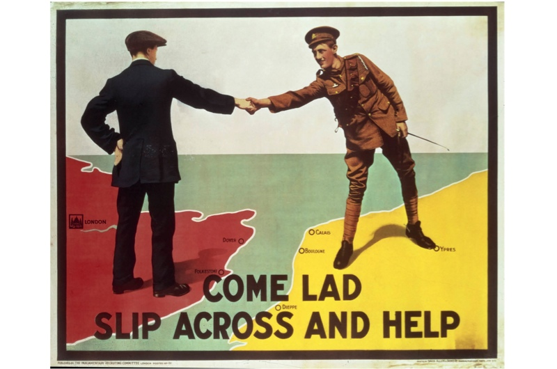 A recruitment poster used during the First World War, c1915.