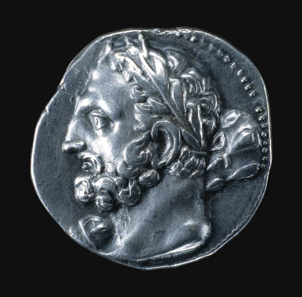 310000775.jpg Shekel of Carthage, c230 BC. Silver coin showing the Punic (Carthaginian) god Melqart / he is depicted resembling the Greek hero Herakles with a club over his shoulder. It is from a series of coins issued by the great Barcid family in Spain during the latter part of the third century BC. During this period Carthage was twice at war with the growing Italian power of Rome, most famously under the great Barcid general Hannibal. Date: from c.230BC to 230BC / silver / portrait Creator: Unknown cat_id: 20996 / InstRef: RES116346 / InstRef2: CM /  1911-7-2-1 (IGCH 2328)