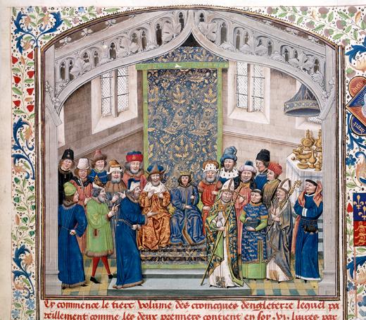 Richard II holding a court