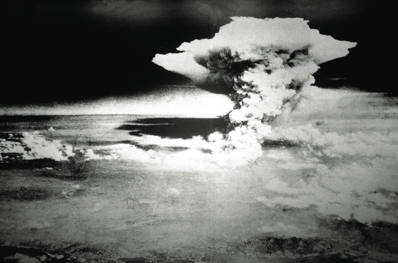Mandatory Credit: Photo By Roger-Viollet / Rex Features The mushroom cloud from the American atom bomb dropped on Hiroshima, Japan - 06 Aug 1945. VARIOUS UK ONLY WW2 SECOND WORLD WAR 2ND WWII 2 NUCLEAR WEAPON