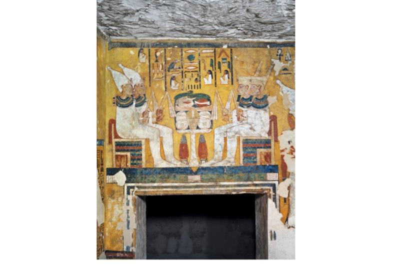 Featured on the tomb of Ay, from the 18th Dynasty.