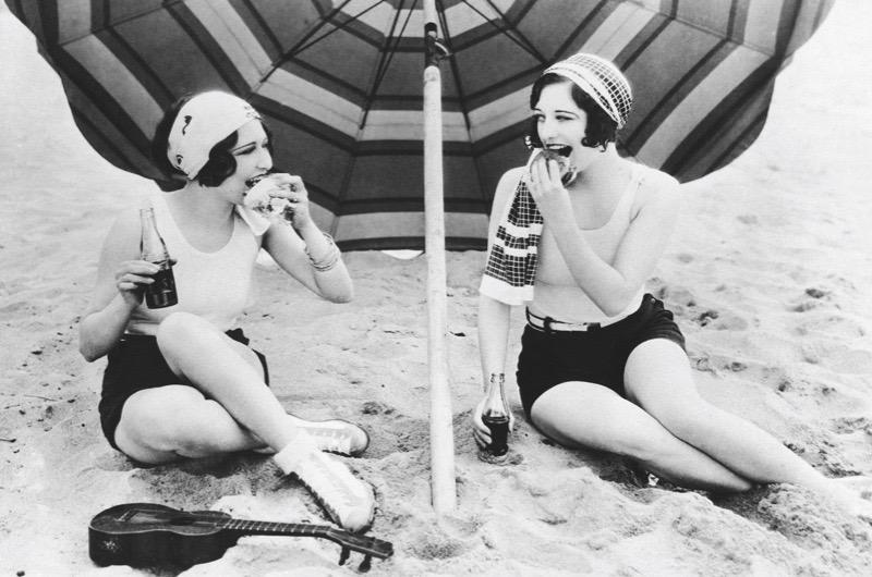 Dorothy Sebastian And Joan Crawford At Beach, Circa 1925-1935