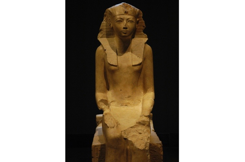 A seated statue of Hatshepsut, one of the longest-reigning and most prominent female pharaohs of ancient Egypt. (Photo by Universal History Archive/UIG/Getty Images)